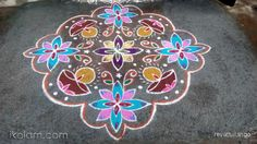 Rangoli 15 to 1 straight dots. by revathiilango Big Rangoli Designs, Beautiful Rangoli Designs, Indian Rangoli, Turkish Tiles, Floor Art, Projects To Try, Dots, Kids Rugs, Home Decor