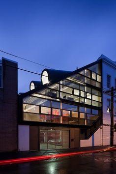 Outside view of Moor Street Studio, Fitzroy, Australia - design  Clare Cousins, artwork Rowena Martinich