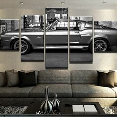 Too Eleanor Mustang for the company lobby? Too much Eleanor? Never! LOL, crazy, love it. #TulsaMade #TulsaProud www.brandnewmusclecar.com