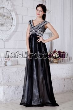 Black Tulle Empire Full Length Maternity Prom Dresses With Silver Sequins Affordable Prom Dresses, Unique Prom Dresses, Beautiful Prom Dresses, Formal Dresses For Women, Mothers Dresses, Formal Gowns, Glitz Pageant Dresses, Prom Party Dresses, Wedding Dresses