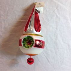 1992 Christopher Radko Christmas Ornament Hollywood Triple Reflector 92-218-1