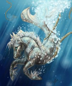 They were the pets of the sea and horse god, Poseidon and would draw his chariot across the sea. Description from pinterest.com. I searched for this on bing.com/images