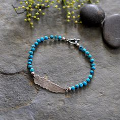 Sterling Turquoise Bracelet Knotted Silk Wrap by christinewalsh