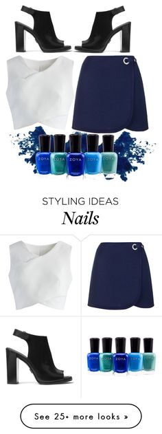 """""""blue atmosphere"""" by lovedreamfashion on Polyvore featuring Topshop, Michael Kors, Chicwish, Zoya, white, black, skirt and Blue"""