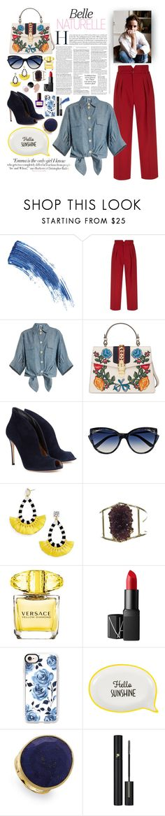 """Untitled #22"" by nikkisto ❤ liked on Polyvore featuring Eyeko, Vanity Fair, RED Valentino, Chloé, Gucci, Gianvito Rossi, La Perla, BaubleBar, Versace and NARS Cosmetics"