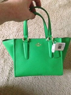 996bd99a1f 33996 Green Crossgrain Leather Satchel
