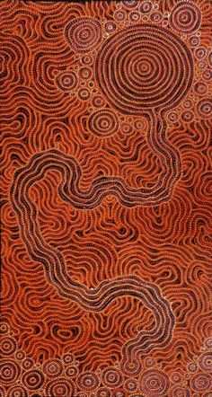 Orange | Arancio | Oranje | オレンジ | Colour | Texture | Style | Form | Pattern | Sarrita King ~ Waterhole, 2013 - acrylic on linen