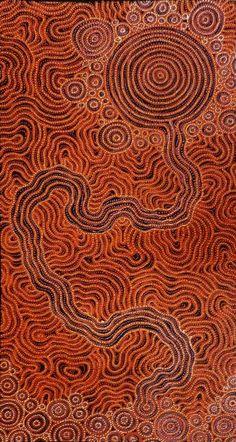 Orange | Arancio | Oranje | オレンジ | Colour | Texture | Style | Form | Pattern | Sarrita King ~ Waterhole, 2013 - acrylic on linen