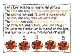 Five Plump Turkeys - Thanksgiving Shared Reading