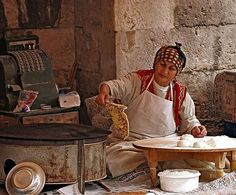 Forgotten jobs of Turkey - making mincemeat and cheese pie to sell in the town market -