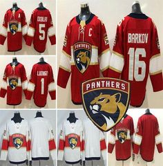 2019 2018 19 Mens Florida Panthers  16 Aleksander Barkov C Patch Jersey  1  Roberto Luongo  5 Aaron Ekblad Jerseys Red White S 3XL From Patriots 1fe257660