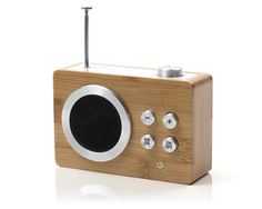 LEXON design - LA69H - MINI DOLMEN RADIO - AM/FM radio - color : Bamboo - design by Lexon studio
