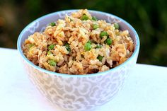Fried (Steamed) Rice with Crab and Peas #recipe #FriedRice
