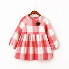 Spring Girl Baby Clothes Dress 2016 Fashion Plaid Baby Girl Clothes Dresses Spring Brand Star Baby Clothes Dresses For Girl Tutu Baby Girl Fall Outfits, Little Dresses, Baby Girl Fashion, Little Girl Dresses, Girl Outfits, Girls Dresses, Dresses 2016, Kids Robes, Tutus For Girls