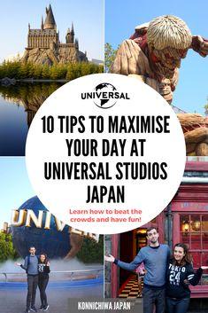 10 Tips to Maximise Your Day at Universal Studios Japan - Reisen, sehen, essen Universal Studio Osaka, Universal Studios Japan, Universal Parks, Japan Travel Guide, Asia Travel, Thailand Travel, Places To Travel, Places To Visit, Travel Stuff
