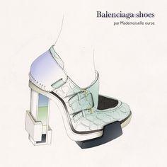 balenciaga shoes- ourse illustration