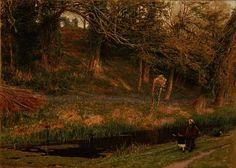 Terrain agréable de Albert Goodwin (1845-1932, United Kingdom)
