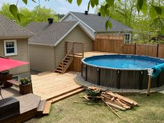 Backyard Projects, Backyard Ideas, Outdoor Spaces, Outdoor Decor, Pool Decks, Big Houses, Tiny House, Sweet Home, Moment