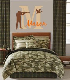 Deer, Hunting, Wall Decal, Wall Decal, Hunting Decor, Boy, Nursery, Antlers, Boys Room, Hunting Nursery, Boys Room Decor, Vinyl by LilSouthernGrace on Etsy https://www.etsy.com/listing/187994830/deer-hunting-wall-decal-wall-decal