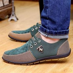 $12.89 Trendy Men's Casual Shoes With Color Block and Checked Design