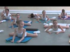 Vaganova Ballet Academy. Stretching and flexibility exercises.