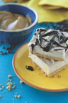 Peanut Butter Banana Icebox Bars - made with Greek Yogurt!