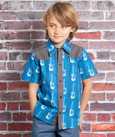 Take a look at this Blue Rockstar Preston Button-Up - Infant by Jelly the Pug on #zulily today!