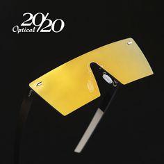 20/20 Brand Vintage Sunglasses Men Rimless Square Frame Travel Flat Panel Lens Male Sun Glasses Women Oculos Gafas PC1604
