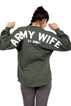 Army Wife - U.S. Army Logo - Armed Forces Classic Crew Ne...