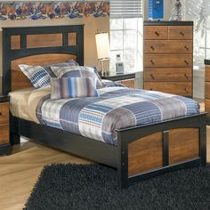 Shop Ashley Furniture Aimwell Twin Panel Bed with great price, The Classy Home Furniture has the best selection of Kids Beds, Beds to choose from Twin Bedroom Sets, Ashley Bedroom, Kids Bedroom Furniture, City Furniture, Kitchen Furniture, Furniture Mattress, Wicker Bedroom, Bedroom Kids, Furniture Online