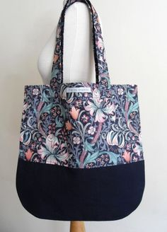 William Morris 'Golden Lily' Print With Navy Linen Bag