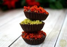 Clean Eating Dark Chocolate Cups with Pistachios and Goji Berries...raw, vegan, gluten-free, dairy-free, paleo-friendly and contain no refined sugars | The Healthy Family and Home