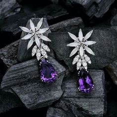 @z.ulg. Pasquale Bruni amethyst and diamond earrings