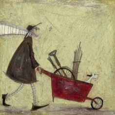 Art at Taylor Made gallery - A Spot of Alloting by Sam Toft