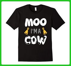 Mens Funny Moo Im A Cow T-shirt Pet Lover Halloween Costume Gift Large Black - Holiday and seasonal shirts (*Amazon Partner-Link)