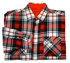 Vintage Red Plaid Wool Shirt    Condition: This shirt is in great vintage condition. There is no label in the shirt but the style and feel is