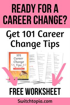 101 Career Change Tips - FREE Checklist - Switchtopia - - Best Picture For career quotes creative For Your Taste You are looking for something, an Finding The Right Career, Find A Career, Choosing A Career, Dream Career, New Career, Career Path, Career Quotes, Work Quotes, Change Quotes