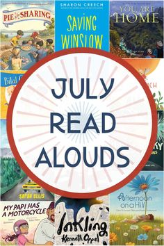 Best books for July to read aloud to children. Picture books, chapter books and poetry that the whole family will love, even the grown-ups! Celebrate summer reading with these great July read… Best Children Books, Books For Teens, Childrens Books, Summer Reading Program, Summer Reading Lists, Read Aloud Books, Good Books, Short Novels, Beginning Reading