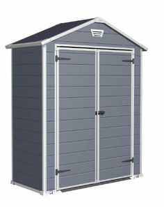 Keter Manor x Resin Storage Shed, All-Weather Plastic Outdoor Storage, Gray/White Suncast Storage Shed, Outdoor Storage Sheds, Outdoor Sheds, Shed Storage, Built In Storage, Locker Storage, Keter Sheds, Sheds Direct, Plastic Sheds