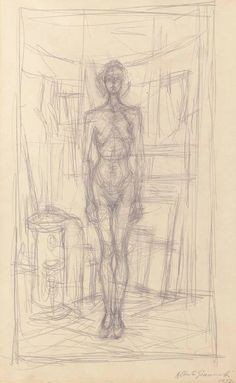 Alberto Giacometti Nu debout, 1952 x 33 cm) Giacometti Paintings, Modern Art, Contemporary Art, Alberto Giacometti, Art Graphique, Life Drawing, Sculpture, American Art, Impressionist