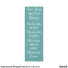 Inspirational Wrapped Canvas