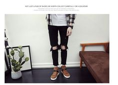2017 New Korean Men's Shoes and High Shoes Casual Shoes Men's Fashion Retro Martin Boots Mens Fashion Shoes, Men's Fashion, High Shoes, Martin Boots, Men's Boots, Korean Men, Casual Shoes, Black Jeans, Retro