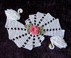 crochet swan doily