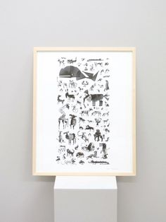 Animal Encounters print by Laura Merz. Available at www.uumarket.fi - UU Market: Home of New Finnish Design.