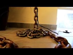 BUILD: Industrial Modern Chain Lamp - YouTube