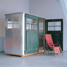 """piet hein eek, garden house. Maybe a slightly bigger one for """"camping"""" in the woods on a regular basis?"""
