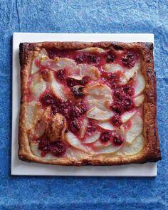 Pear-Raspberry Tart - use cranberries instead?