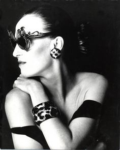 Miriam Slater wearing a pair of vintage 1950 s eyeglasses frames from her  collection. Glasses Online 931b2854034c