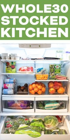 Stocked Kitchen Essentials – staples for your refrigerator, freezer, pantry and spice cabinet that you can't live without. Sharing everything to have on hand and ready for and where to purchase it. Clean Eating Recipes For Dinner, Clean Eating Breakfast, Clean Eating Meal Plan, Delicious Dinner Recipes, Clean Eating Snacks, Healthy Eating, Healthy Meals, Healthy Recipes, Whole 30 Meal Plan