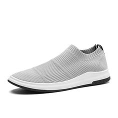 c21c360c1652 US$ 29.18 - Men Knitted Fabric Breathable Slip On Casual Walking Sneakers  Férfi Sportcipők,